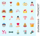 icons set about wedding. with... | Shutterstock .eps vector #796426237