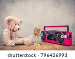 retro teddy bear toy  classic... | Shutterstock . vector #796426993
