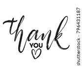 thank you hand drawn brush... | Shutterstock .eps vector #796431187