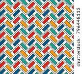 herringbone wallpaper. abstract ... | Shutterstock .eps vector #796448113