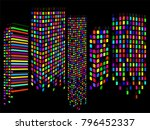 abstract city of skyscrapers.... | Shutterstock .eps vector #796452337