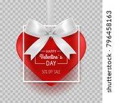 valentines day hanging heart... | Shutterstock .eps vector #796458163