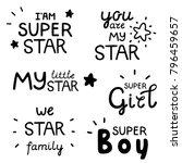 lettering set  inspirational...   Shutterstock .eps vector #796459657