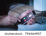 unknown number calling in the...   Shutterstock . vector #796464907