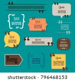 quote box vector set  templates ... | Shutterstock .eps vector #796468153