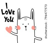 vector card  i love you... | Shutterstock .eps vector #796477573