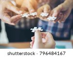 close up hand of group business ...   Shutterstock . vector #796484167