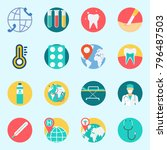 icons set about medical. with... | Shutterstock .eps vector #796487503