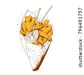 seafood con  vector... | Shutterstock .eps vector #796491757