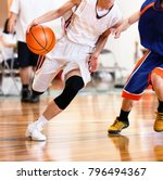 high school student playing... | Shutterstock . vector #796494367