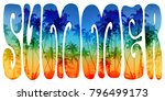 vector summer hippie style... | Shutterstock .eps vector #796499173