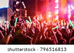crowd clap or hands up at... | Shutterstock . vector #796516813