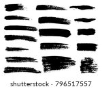 painted grunge stripes set.... | Shutterstock .eps vector #796517557