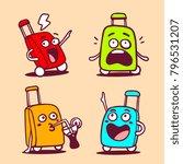 vector illustration of set of... | Shutterstock .eps vector #796531207