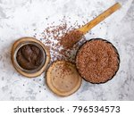 flaxseed urbech   raw vegan... | Shutterstock . vector #796534573