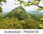 hilly rural landscape view from ... | Shutterstock . vector #796536733