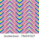 indian embroidery. geometric... | Shutterstock .eps vector #796537627