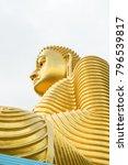 big golden buddha statue in... | Shutterstock . vector #796539817