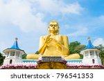 big golden buddha statue in... | Shutterstock . vector #796541353