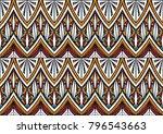 geometric folklore ornament.... | Shutterstock .eps vector #796543663