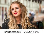 portrait of a young beautiful...   Shutterstock . vector #796544143