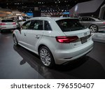 Small photo of DETROIT, US - JANUARY 15, 2018: Audi A3 e-tron on display during the North American International Auto Show at the Cobo Center in downtown Detroit.