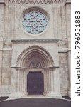 matthias church door and... | Shutterstock . vector #796551883
