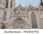 detail window gothic... | Shutterstock . vector #796554793