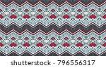 ikat geometric folklore... | Shutterstock .eps vector #796556317