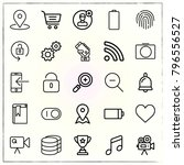 web interface line icons set...   Shutterstock .eps vector #796556527