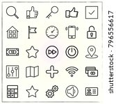 web interface line icons set... | Shutterstock .eps vector #796556617