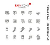 easy icons  | Shutterstock .eps vector #796559557