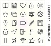 web interface line icons set... | Shutterstock .eps vector #796565557