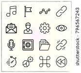 web interface line icons set... | Shutterstock .eps vector #796567243