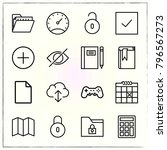 web interface line icons set... | Shutterstock .eps vector #796567273
