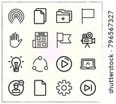 web interface line icons set... | Shutterstock .eps vector #796567327