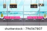 airport interior waiting hall... | Shutterstock .eps vector #796567807