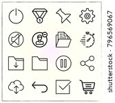 web interface line icons set... | Shutterstock .eps vector #796569067