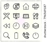 web interface line icons set... | Shutterstock .eps vector #796569187