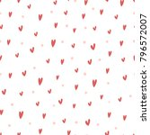hand drawn irregular hearts... | Shutterstock .eps vector #796572007