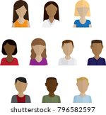 headshots vector illustration   Shutterstock .eps vector #796582597