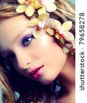 vintage portrait of young... | Shutterstock . vector #79658278