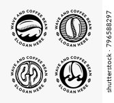 black white coffee shop emblem... | Shutterstock .eps vector #796588297