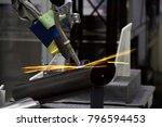 industry 4.0 robot concept .the ... | Shutterstock . vector #796594453