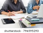 college student young... | Shutterstock . vector #796595293