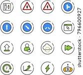 line vector icon set   elevator ... | Shutterstock .eps vector #796600927