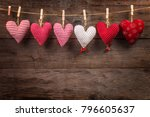 happy lovers day card mockup ... | Shutterstock . vector #796605637