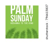 palm sunday holiday card ... | Shutterstock .eps vector #796615837