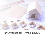 working on process house plan... | Shutterstock . vector #796618237