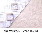 working on process house plan... | Shutterstock . vector #796618243
